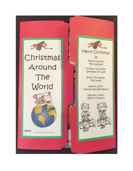 Christmas Traditions Around the World 3rd - 6th Grade Lapbook and Crafts