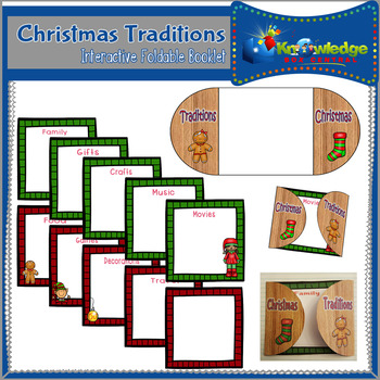 Christmas Traditions Interactive Foldable Booklet