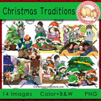 Christmas Traditions Clip Art
