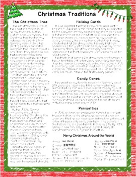 Christmas Traditions Close Reading Passage