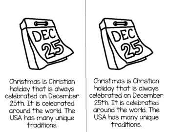 Christmas Traditions Differentiated Reader