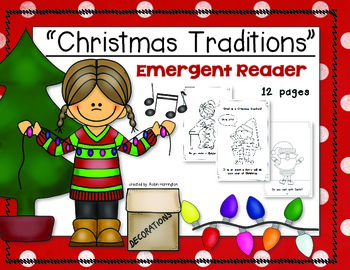 Christmas Traditions {Emergent Reader} for Young Students Kindergarten and First