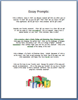 Christmas Activities Christmas Traditions Essay Prompts/Diversified Activities