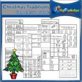 Christmas Traditions Kindergarten Math & Literacy Workshee