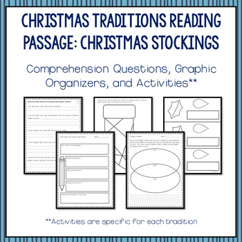 Christmas Traditions Reading Passages and Activities