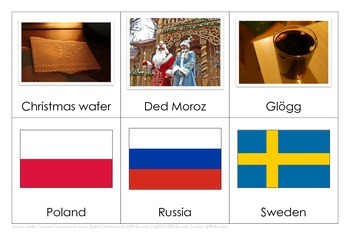 Christmas Traditions Worldwide Matching Activity