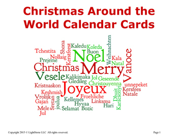 Christmas Around the World: Traditions from Around the World Calendar Cards