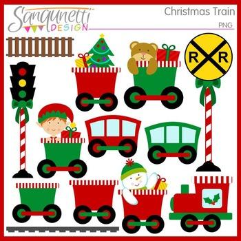 Christmas Train Clipart