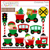 Christmas Train Clipart