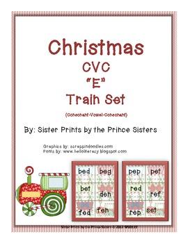 """Christmas Train CVC """"E"""""""