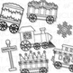 Christmas Train Clip Art (Digital Use Ok!)