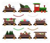 Christmas Train Clip Art - Polar Express Digital Graphics