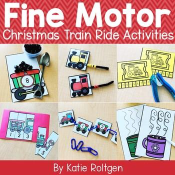 Christmas Train Ride Fine Motor Activities