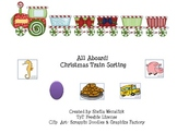 Christmas Train Sorting - Preschool Speech/Language Therapy