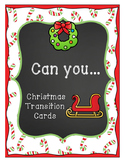 Christmas Transition Cards