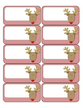 Christmas Treat Bag Labels