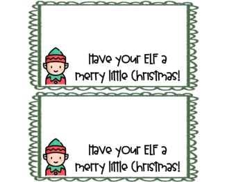 Christmas Treat Bag Labels By Rockin Resources Tpt