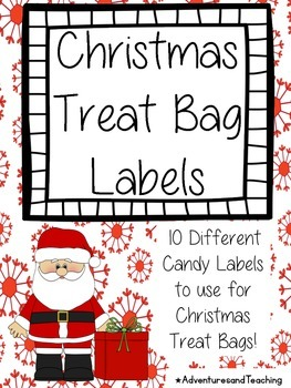 Christmas Treat Bag Labels FREEBIE