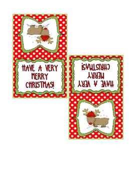 Christmas Treat Bag Tags