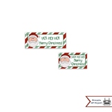 Christmas Treat Bag Toppers With Santa for Candy & Goodie Bags, Party Favors