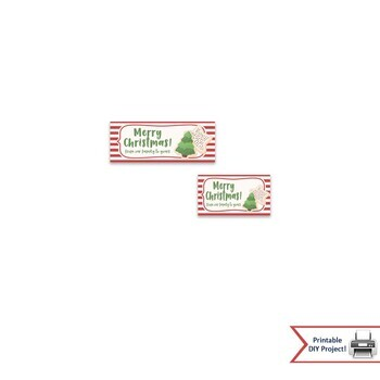 Christmas Treat Bag Toppers for Winter & Holiday Parties, Printable Bag Toppers
