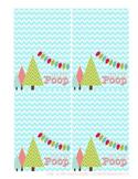 "Christmas Treat Bag toppers ""SNOWMAN POOP"""