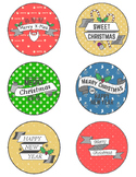 Christmas Treat Tags-Hipster