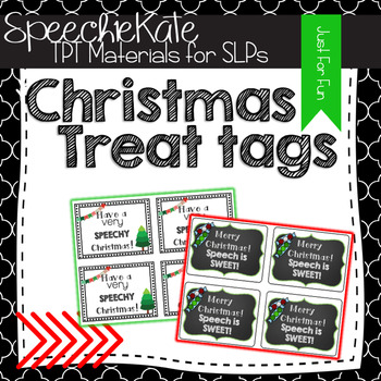 Christmas Treat Tags for SPEECH