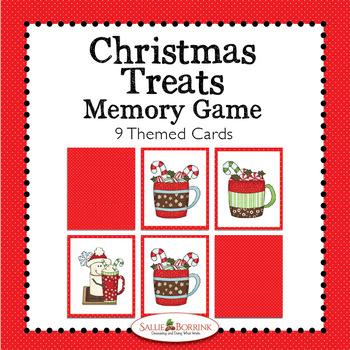 Christmas Treats Memory Game - Christmas Treats Theme Activity