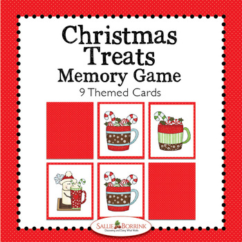 Christmas Treats Memory Game - Christmas Treats Theme Activity