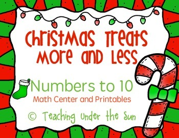 Christmas Counting Treats, More and Less, Numbers 1-10, Winter, Printable