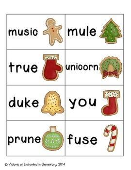Christmas Treats Phonics: Long U Pack