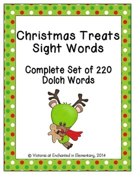 Christmas Treats Sight Words! Complete Set of all 5 Dolch Lists