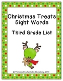 Christmas Treats Sight Words! Third Grade Dolch List Edition