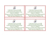 Christmas Treats Tag - Bilingual - For Students French/English