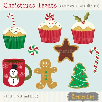 Christmas Treats clip art images, Christmas clipart, Christmas vector