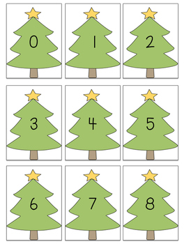 Christmas Tree [0-120] Number Cards