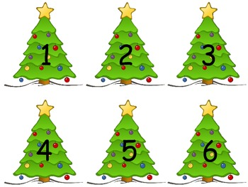Christmas Tree 1-20 Flashcards