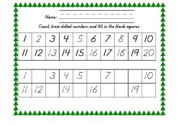 Christmas Tree 1-20 Grids