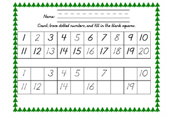 Christmas Tree 1-20 Grids