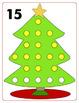 Christmas Tree 1 to 20 Playdoh Mats - Math Center for PreK to 2nd Grade