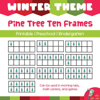 Christmas Tree 10 Frames Math  Clip Arts-Set 5 [TeKa Kinderland]