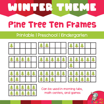 Christmas Tree 10 Frames Math Clip Arts-Set 9 [TeKa Kinderland]