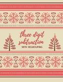 Christmas Tree 3 Digit Subtraction