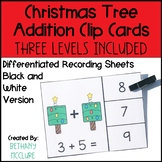 Christmas Tree Addition Clip Cards