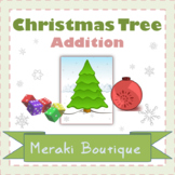 Christmas Tree Addition Math Center +5 Worksheets