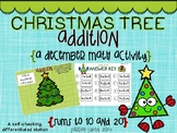 Christmas Tree Addition Math Station- sums to 10 and 20