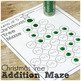 Christmas Tree Addition Mazes Sums of 1-20