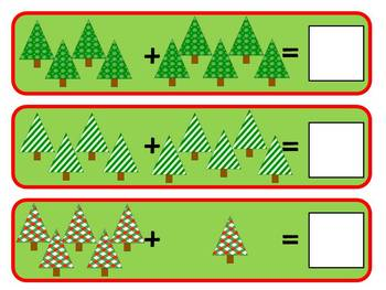 Christmas Tree Addition- Sums To 10
