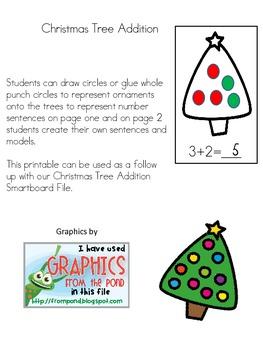 Christmas Tree Addition Worksheet